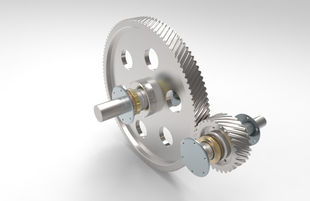 Helical gear system